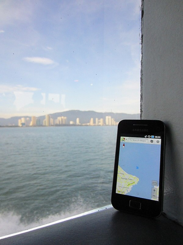 Tracking the journey on the GPS