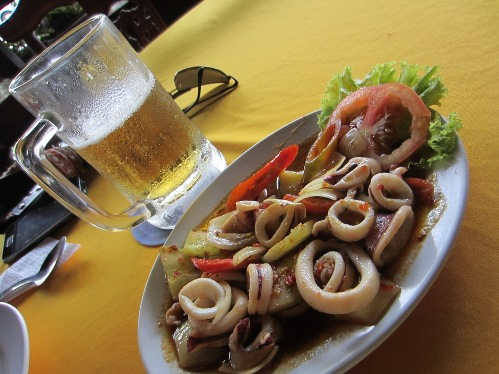 Squid and beer