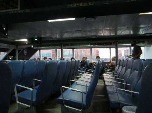 Inside the ferry from Penang to Langkawi