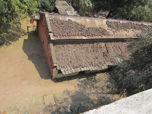 Roof of the old buildings