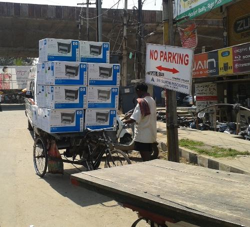 Dell printers on rickshaw