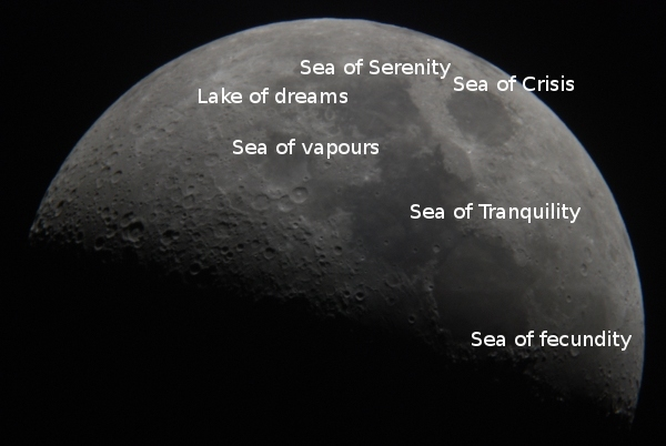 Names of the moon's craters