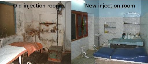 Old and new injection rooms