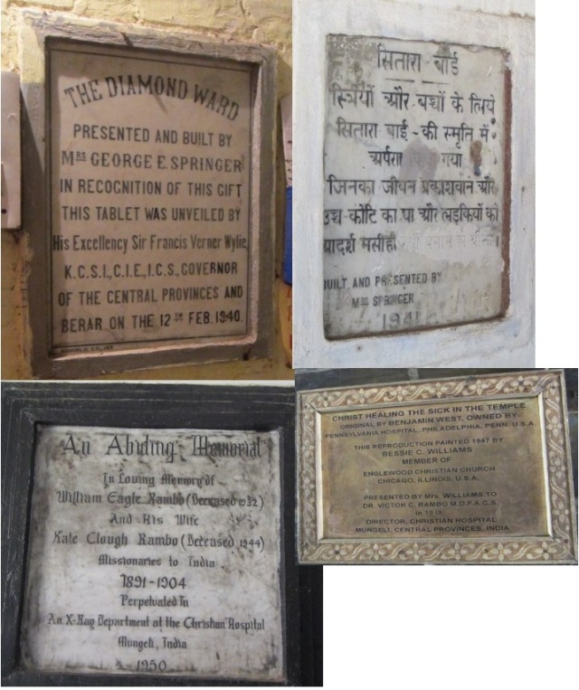 Assorted plaques marking history