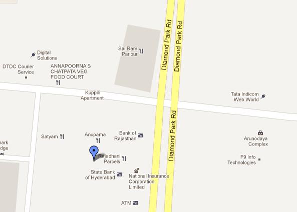 Rajadhani, google maps