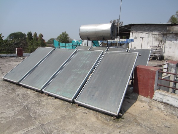 Solar water heating for wards and residences