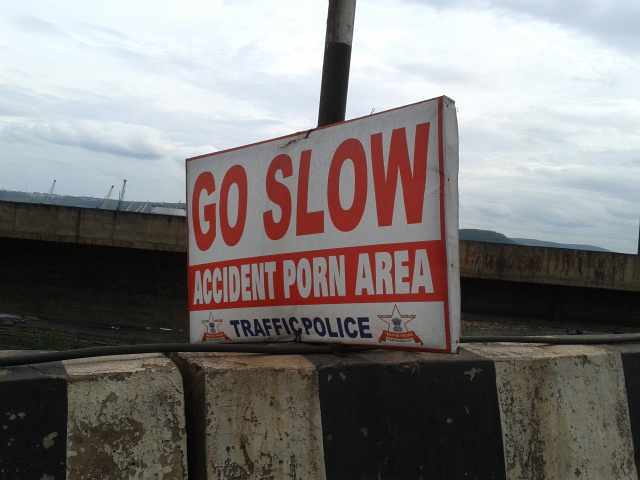 Vizag Traffic Police Sign - Accident Porn Area