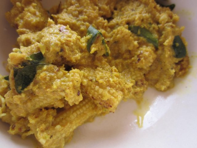 Corn on cob curry