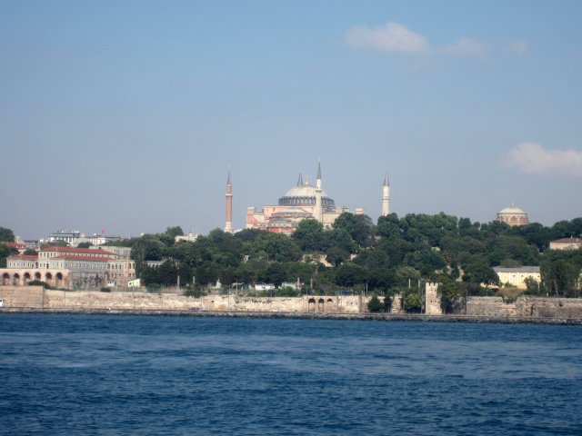 View of Hagia Sophia from the ferry