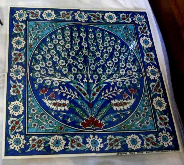 TRee of life tile from Iznik Works in Grand Bazaar