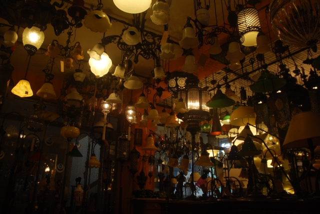 Lamps galore, old but mostly new reproductions