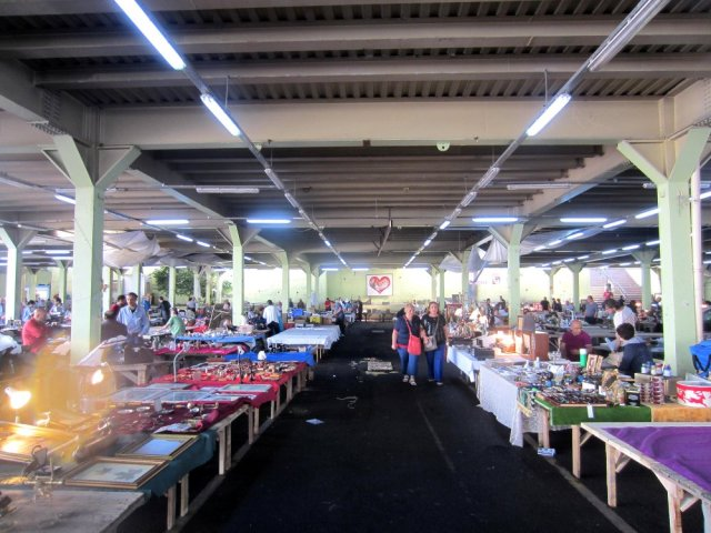 Ferikoy market in a car park