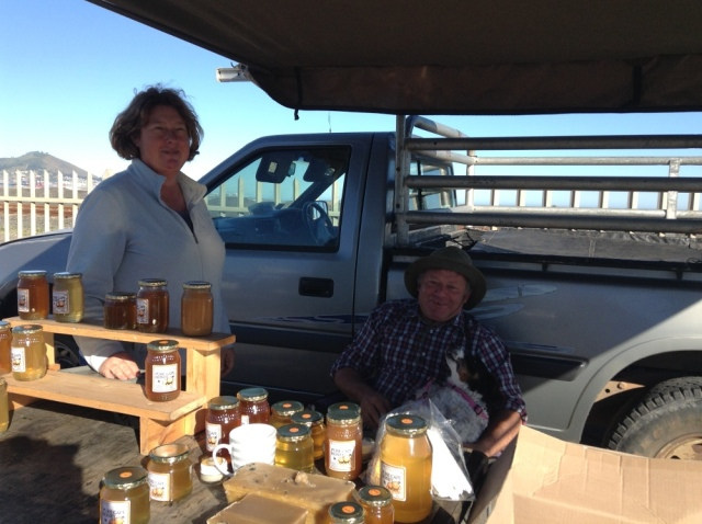 Pure Cape Honey Stellinridge seller with dog