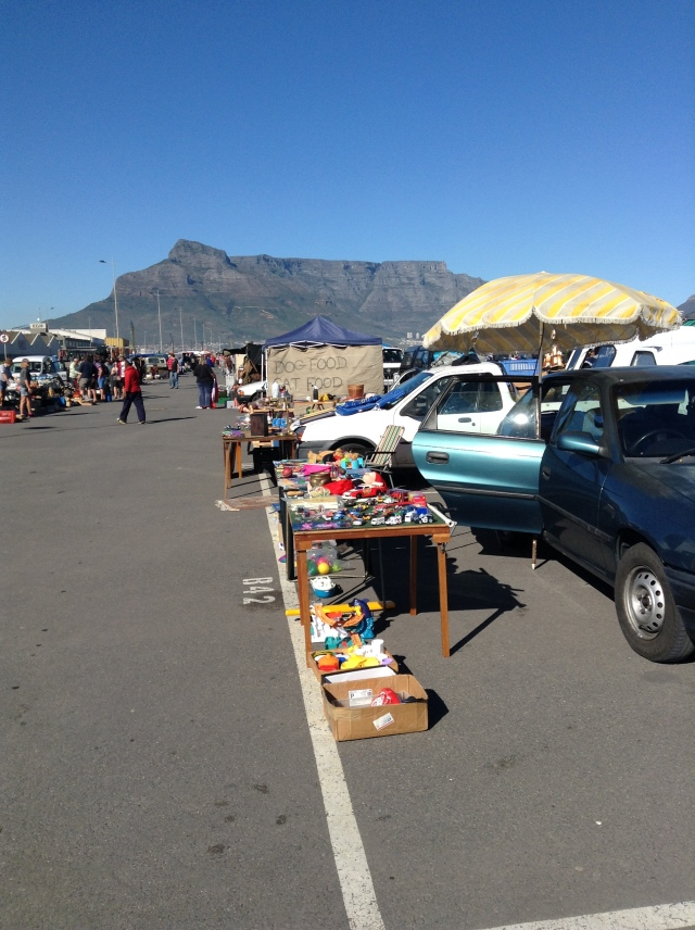 Milnerton Flea market with table mountain in the back ground